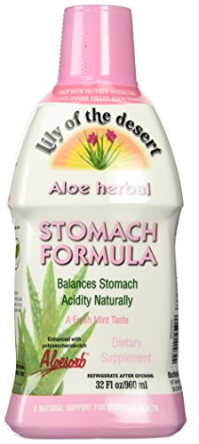 Lily of The Desert Aloe Herbal Stomach Formula Fresh Mint, 32 Fluid Ounce by Lily Of The Desert