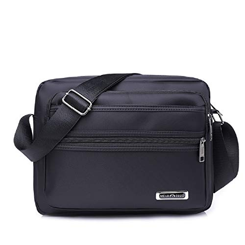 Small Black Cloth Shoulder Mens Square Bag Backpack Sports Waterproof Travel Carrying Oxford Zhrui F7qfw50g