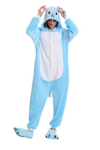 XMiniLife Unisex Onesie Adult Cosplay Costume Christmas Pajamas Halloween (115#(Height 130-140cm), Happy Cat 1) -