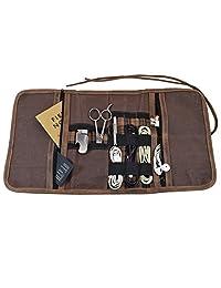 Rollo organizador de viaje de lona encerada multiusos para cables/pasaporte/cartera/objetos de valor hecho a mano por Hide & Drink :: Honey Bourbon