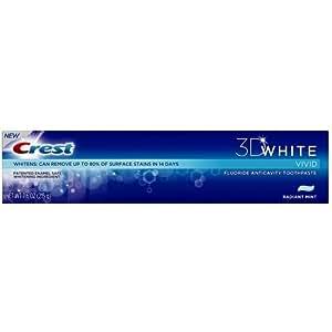 Crest 3D White Vivid pasta dental, Radiant Mint, 7.6 oz