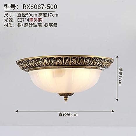 Heqor Lámpara de techo de pasillo romántica europea luz ...