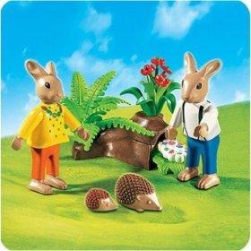 Playmobil ferme enfants lapins herissons dp BHZLU