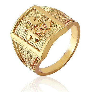 Chinese Characters Meaning Wealth Gold Rings Amazon Jewellery