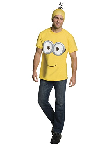 Rubie's Men's Minion Costume T-Shirt, Yellow, Large -