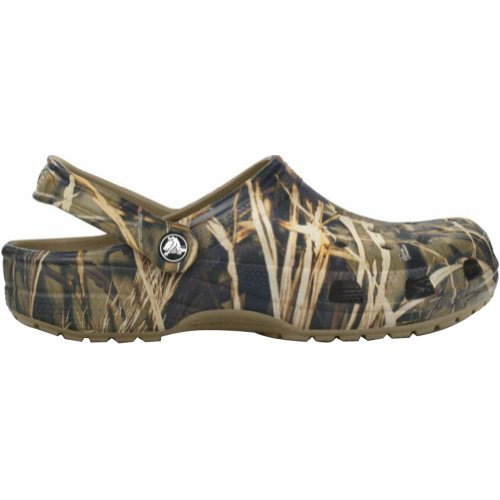 Croc Print Leather (Crocs Men's Classic Realtree Clogs, Realtree Max-4/Khaki, 12D)