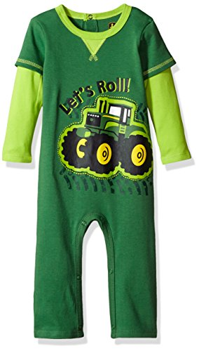 John Deere Baby Boys' Coverall, Green, 9/12 ()