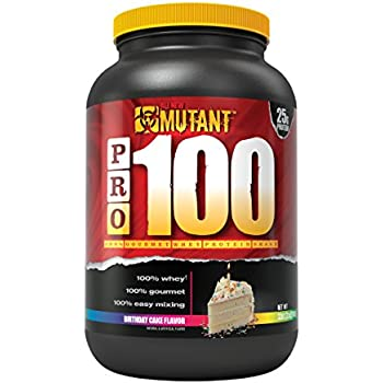 Mutant Pro 100 Whey Protein Shake With No Hidden Ingredients Made In Gourmet Delicious Flavors Birthday Cake Flavor