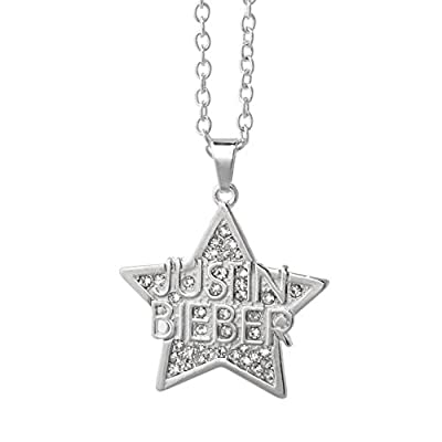 Justin Bieber Crystal Star Necklace