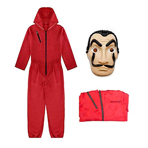 Mizzuco Dali Movie Costume Cosplay Costumes with Mask (S) Red