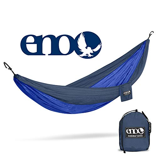 ENO Eagles Nest Outfitters - DoubleNest Hammock, Portable Hammock for Two, Navy/Royal