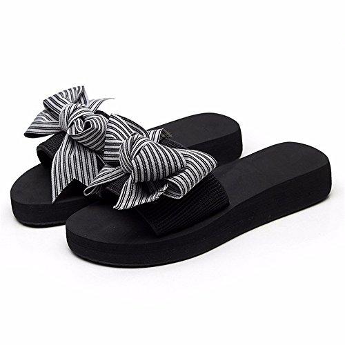 cool Playa calzado zapatillas FLYRCX bow verano moda al lady Beach a de aire sweet antideslizante Resort libre q64wO8q