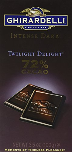 Ghirardelli Chocolate Intense Dark Chocolate Bar, 72% Cacao Twilight Delight, 3.5 oz