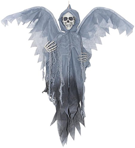 Morris Costumes SS85356 Winged Reaper Grey 3 Ft -
