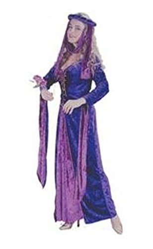 [Renaissance Princess in Purple and Pink Velvet in Medium/Large (8-14)] (Pink Renaissance Dress)