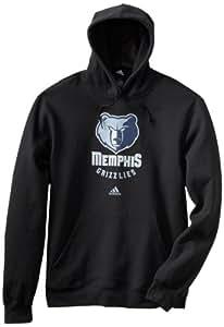 NBA Memphis Grizzlies Primary Logo Hoodie, Large, Black Heathered
