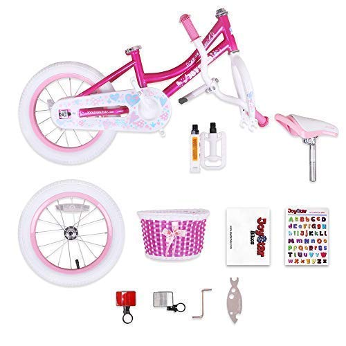 b763af0db01 JOYSTAR 14 Inch Kids Bike for Girls with Training Wheels   Basket for 3 4 5