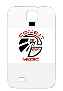 TPU Combat Medic Red Black For Sumsang Galaxy S4 Careers Professions Logo Military Military Medical Soldier Army Cover Case