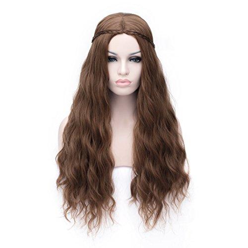 [Daenerys Targaryen--Game of Thrones Wig Cosplay Wig Costume Party Wigs (Brown)] (Daenerys Targaryen Costume Hair)