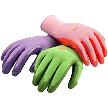 Superior G U0026 F 15226M Womenu0027s Garden Gloves, Nitrile Coated Work Gloves, Assorted  Colors.