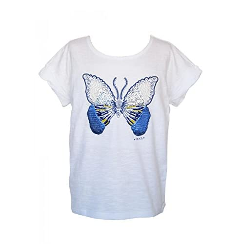 c94de0dce Bueno wreapped Ikks-Camiseta de manga larga, diseño de mariposas, color  blanco,