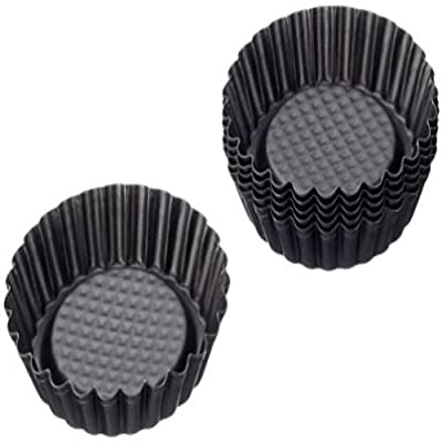 Zenker Non-Stick Carbon Steel Mini Tart Pans 4-Inch Diameter Set Of 6 New