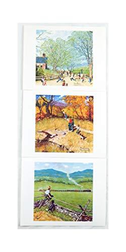 Vintage 1970's Norman Rockwell Childhood Treasures Series Three Print Set
