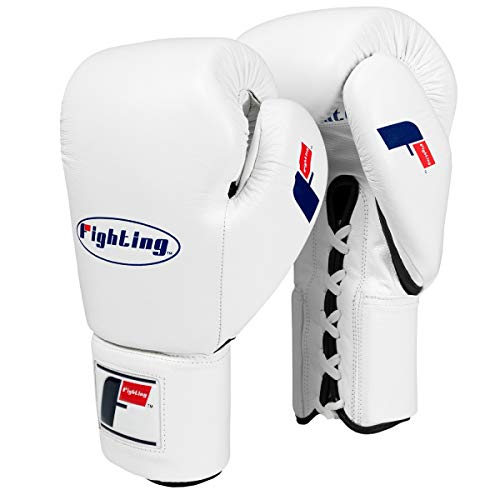Fighting Sports Fury Professional Lace Training Gloves, White, 16 oz