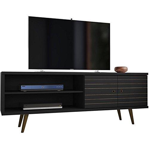 Manhattan Comfort 201AMC8 Liberty Mid-Century Modern Television Stand, Medium, Black