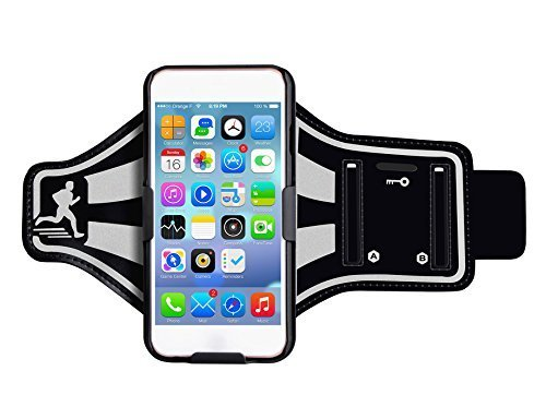 iPhone 6 Plus Armband, Egrace Waterproof iPhone 6S Plus Armband 5.5 inch Sports Exercise Armband with Key Slots and Headphone for iPhone 6 Plus/6S Plus
