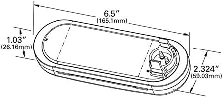 Male Pin Grote 62051 SuperNova NexGen Oval Dual-System LED Backup Light