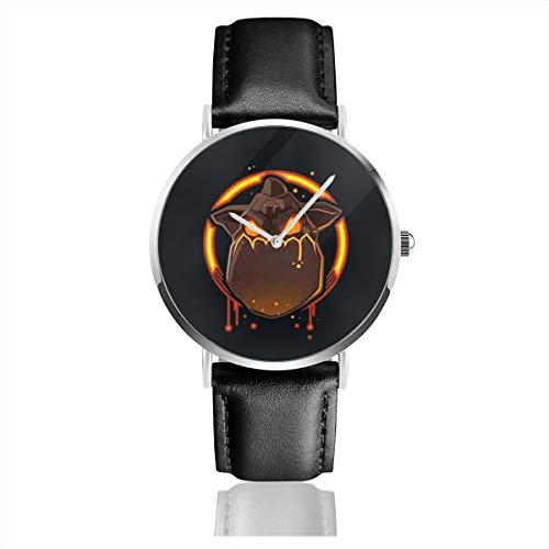 Lava Hound Teenage Men Leather Strap Military Watches Women's Waterproof Sport Wrist Date Quartz Wristwatch - Hounds Lava