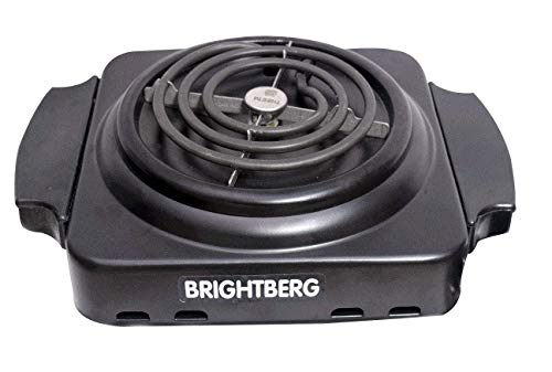 BrightBerg Mini Rectangle Hot Plate Induction Cook top | ISI Certified Element 1000 Watt with Black and Chrome