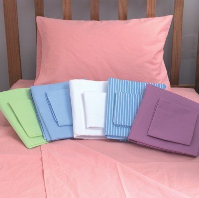 Mabis Dmi Healthcare Hospital Bedding Sheet Sets, Blue Stripped, One by MABIS DMI Healthcare