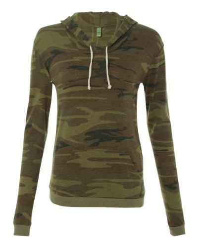 UPC 852678050036, Alternative Ladies' Classic Hooded T-Shirt 1928-Large-Camo
