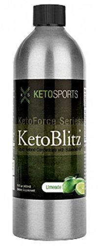 KetoSports KetoBlitz Preworkout Energy Booster: Dietary Keto Supplement Mental & Athletic Enhancer, Limeade Flavor 16 Fluid Oz