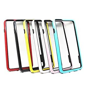 """LZX Stylish TPU Bumper Frame for iPhone 6 (5.5""""Assorted Colors) , White"""