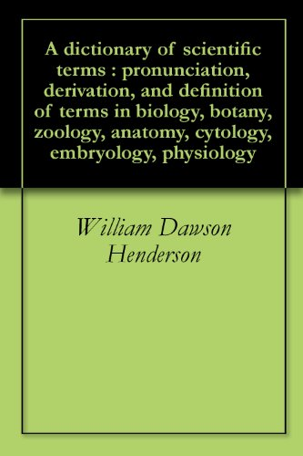 Amazon A Dictionary Of Scientific Terms Pronunciation