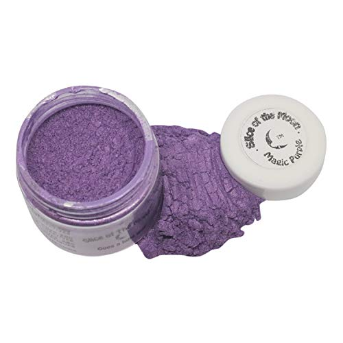 Slice of the Moon: Magic Purple Mica Powder 28g, Natural Mineral Mica, Cosmetic Grade For Lipstick Lip gloss Bath Bombs Epoxy Resin Face Blush Powder Eye pencil Dye Pigments Candle Making