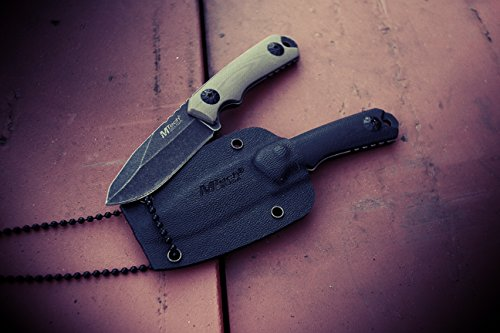 MTECH USA MT 20 30 Series Fixed Blade Neck Knife, Drop Point Blade, G10 Handle, 4 3/4 Inch Overall