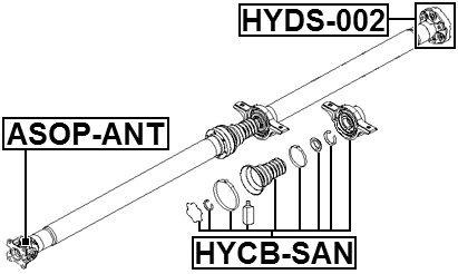 Center Bearing Support For Hyundai//Kia 49575-2B010 495752B010