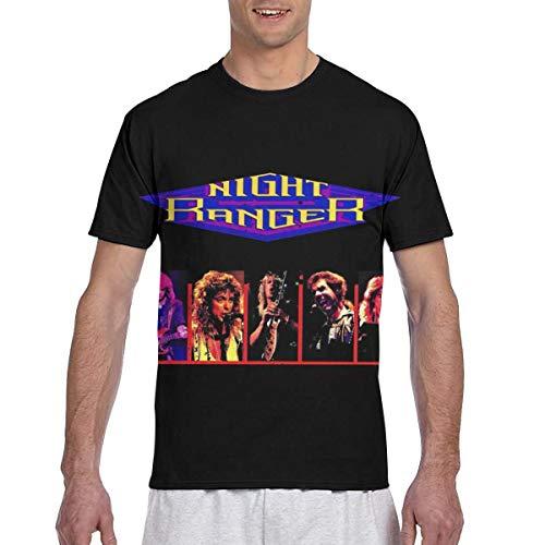MAYAL Men's Night Ranger 3D Printed Short Sleeve T Shirt Black XL ()