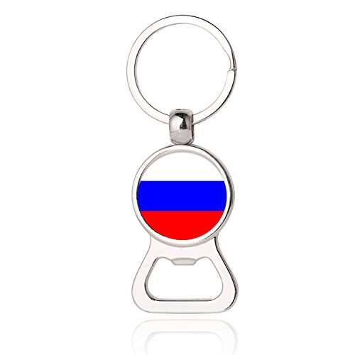 The Russian Federation National Flag Photo Printing Bottle Opener Keychain, Russian National Flag Photo Dome Bottle Opener,Photo Dome Jewelry,Gift,Bottle Opener Key Chain,Promotional Items ()