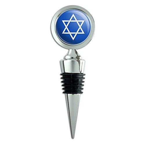 Star of David Jewish Israel Ancient Religion Wine Bottle Stopper ()