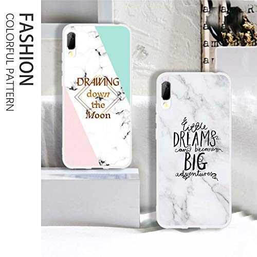 Huawei Y6 Pro 2019 Marble Case, Anya Marble Design Bumper Slim Soft TPU  Rubber Bumper Silicone Protective Case Cover for Huawei Y6 Pro 2019 - Bee