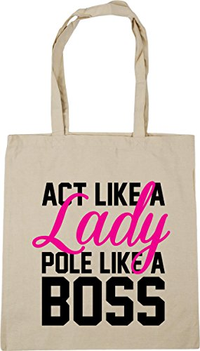 Pole Bag litres Boss Shopping HippoWarehouse Like Gym x38cm Lady Like Beach 10 42cm Tote a Act Natural a wpH7Iqax