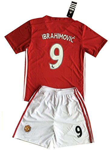 manchester-united-2016-2017-ibrahimovic-9-kids-youths-home-soccer-jersey-shorts-set-7-8-years