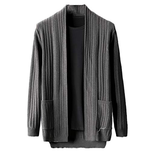 A Maglieria Yra Maglia Maniche Cappotti E Casual Lunghe Fashion Primavera Autunno Service Maglione Grey Cardigan In Mens Wear Maschile Home Top Per dPrqSPw