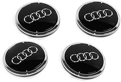 Buje Juego de tapacubos Audi A3/TT Original accesorios Tuning Ornamentales Tapa Negro/Cromo/satinado: Amazon.es: Coche y moto