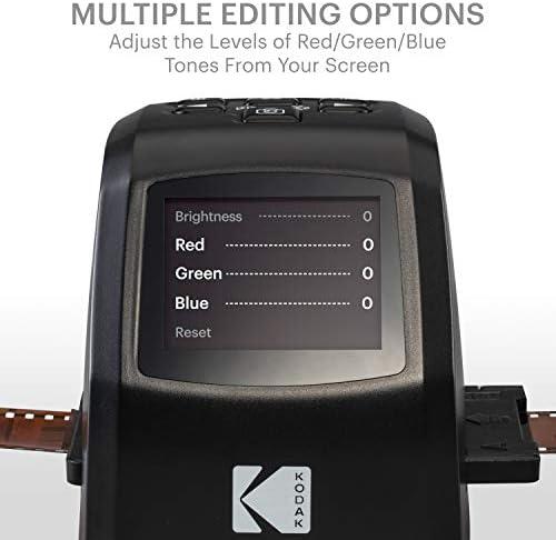 KODAK MINI DIGITAL FILM AND SLIDE SCANNER – CONVERTS 35MM, 126, 110, SUPER 8 & 8MM FILM NEGATIVES & SLIDES TO 22 MEGAPIXEL JPEG IMAGES – INCLUDES - 2.4 LCD SCREEN – EASY LOAD FILM ADAPTERS